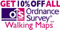 GET 10% OFF Ordnance Survey Maps with FREE postage and packing