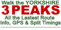 Walk The Yorkshire Three Peaks Challenge Walk - All the Latest Route Information, GPS Waypoints and Split Times to keep you on Schedule