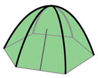 Dome (or Wedge) Tents for Camping