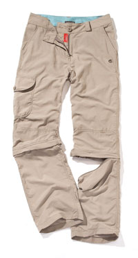 Craghoppers NosiLife Lite threequarters convertible for Women Lightweight Walking Trousers