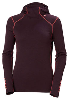 Helly Hansen Lifa Merino Midweight Hoodie for Women Base Layer