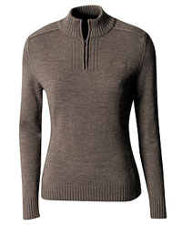 Kathmandu Rabrossa  half zip pure wool knitted for Women Base Layer