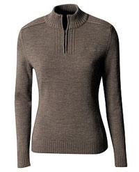 Kathmandu Rabrossa  half zip pure wool knitted for Women Base Layer