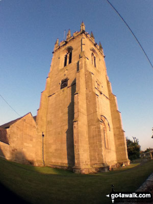 Shawbury Church from the same position using the Olloclip Fisheye Lens