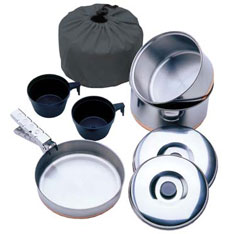 Stainless Steel Cook Kit for 2 People Walking Accessories and Gift Ideas