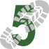 Walking Boot Print Icon