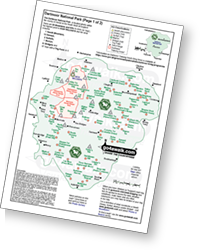 <em>Downloadable Peak Baggers Map you can Print or Save to your Phone detailing all the Mountains, Hewitts, Deweys, Nuttalls, Marilyns, Bridgets, Hills, Peaks and Tops in Dartmoor National Park. </em>