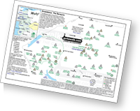 <em>Downloadable Peak Baggers Map you can Print or Save to your Phone detailing all the Mountains, Hewitts, Deweys, Nuttalls, Marilyns, Bridgets, Hills, Peaks and Tops in The Berwyns area of Snowdonia National Park. </em>
