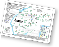 <em>Downloadable Peak Baggers Map you can Print or Save to your Phone detailing all the Mountains, Hewitts, Deweys, Nuttalls, Marilyns, Bridgets, Hills, Peaks and Tops in The Cadair Idris area area of Snowdonia National Park. </em>