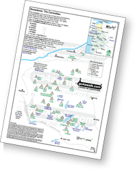 <em>Downloadable Peak Baggers Map you can Print or Save to your Phone detailing all the Mountains, Hewitts, Deweys, Nuttalls, Marilyns, Bridgets, Hills, Peaks and Tops in The Carneddau of Snowdonia National Park. </em>