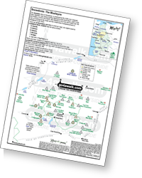 <em>Downloadable Peak Baggers Map you can Print or Save to your Phone detailing all the Mountains, Hewitts, Deweys, Nuttalls, Marilyns, Bridgets, Hills, Peaks and Tops in The Moelwyns of Snowdonia National Park. </em>