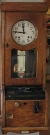 The Yorkshire Three Peaks Challenge Walk - The Antique Clock Card Machine The Pen-y-ghent Cafe Antique Clock