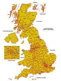 Walks from UK Postcodes