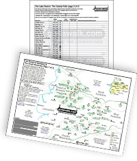 Downloadable Peak Bagging pdf file including a Location Map and Tick List of all the Mountains, Bridgets, Hills, Peaks, Tops and Hewitts in the The South Pennines & Forest of Bowland of