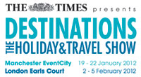 Win 10 pairs of Tickets to The Times Presents Destinations 2012 worth over £200