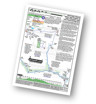 Walk route map with easy-to-follow route instructions for Argyll and Bute walk ab181 Stob a' Choire Odhair, Stob Ghabhar and Stob a' Bhruaich Leith from Victoria Bridge pdf
