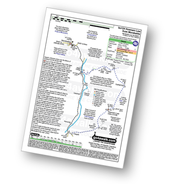 Walk route map with easy-to-follow route instructions for walk bo124 Hownam Law from Morebattle pdf