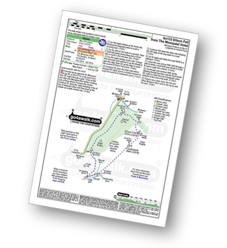 Walk route map with easy-to-follow route instructions for walk bo133 Glenrief Rigg and Ellson Fell from Mosspaul Hotel pdf