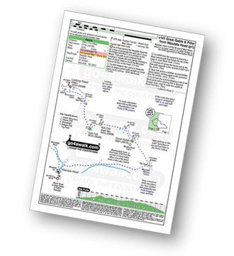 Walk route map with easy-to-follow route instructions for walk c141 Great Gable and Pillar from Wasdale Head, Wast Water pdf