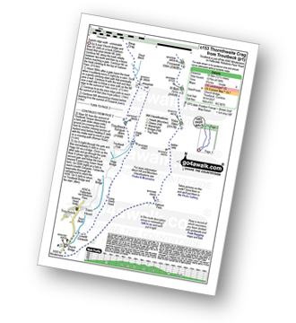 Walk route map with easy-to-follow route instructions for walk c153 Thornthwaite Crag from Troutbeck pdf