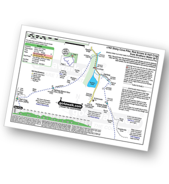 Walk route map with easy-to-follow route instructions for walk c162 Stony Cove Pike (Caudale Moor), Red Screes and Hart Crag from Brothers Water pdf