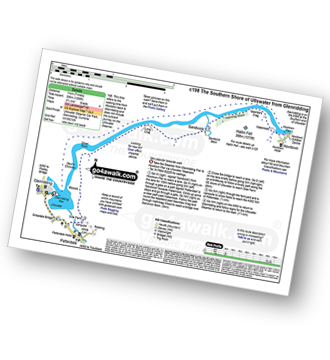 Walk route map with easy-to-follow route instructions for walk c198 The Southern Shore of Ullswater from Glenridding pdf