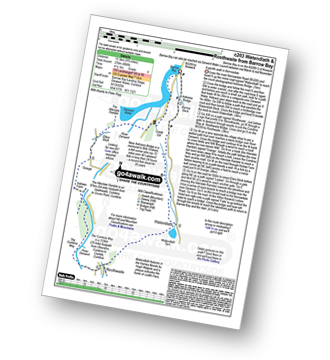 Walk route map with easy-to-follow route instructions for walk c203 Ashness Bridge, Surprise View, Watendlath, Rosthwaite and The River Derwent from Barrow Bay pdf