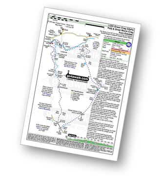 Walk route map with easy-to-follow route instructions for walk c205 Green Crag (Ulpha Fell) and Great Worm Crag from Stanley Force NT Car Park, Eskdale pdf
