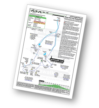 Walk route map with easy-to-follow route instructions for walk c215 Scafell Pike from Seathwaite pdf