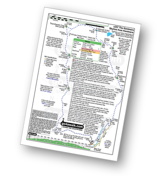 Walk route map with easy-to-follow route instructions for walk c257 The Kentmere Skyline from Kentmere pdf