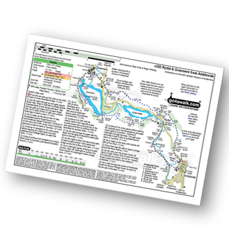 Walk route map with easy-to-follow route instructions for Cumbria walk c292 Rydal and Grasmere from Ambleside pdf