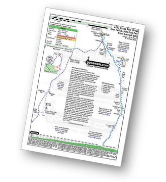 Walk route map with easy-to-follow route instructions for walk c293 Cross Fell and Great Dun Fell from Garrigill pdf