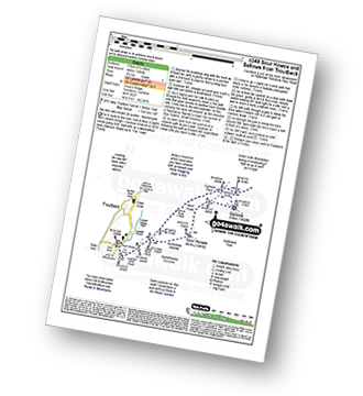 Walk route map with easy-to-follow route instructions for walk c349 Sour Howes and Sallows from Troutbeck pdf