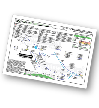 Walk route map with easy-to-follow route instructions for walk c371 Esk Pike and Bow Fell (Bowfell) from The Old Dungeon Ghyll, Great Langdale pdf