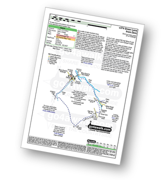 Walk route map with easy-to-follow route instructions for walk c374 Green Lane from Dent pdf