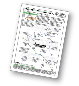 Walk route map with easy-to-follow route instructions for walk c381 Nine Standards Rigg from Tailbridge Neck pdf