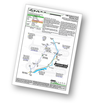 Walk route map with easy-to-follow route instructions for walk c386 Yewbarrow from Wasdale Head, Wast Water pdf