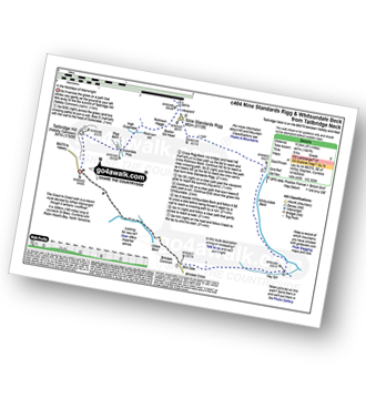 Walk route map with easy-to-follow route instructions for walk c404 Nine Standards Rigg and Whitsundale Beck from Tailbridge Neck pdf