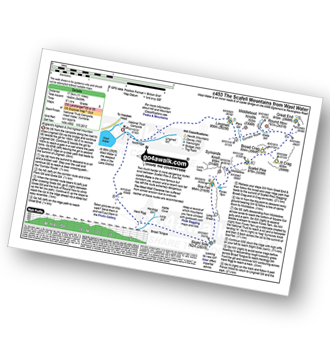 Walk route map with easy-to-follow route instructions for walk c453 The Scafell Mountains from Wasdale Head, Wast Water pdf