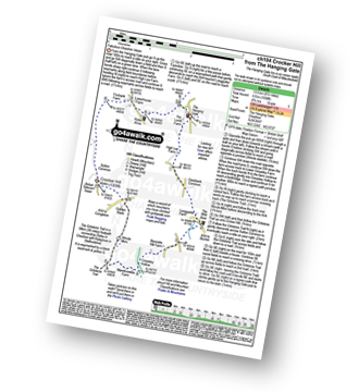 Walk route map with easy-to-follow route instructions for walk ch104 Croker Hill from The Hanging Gate pdf