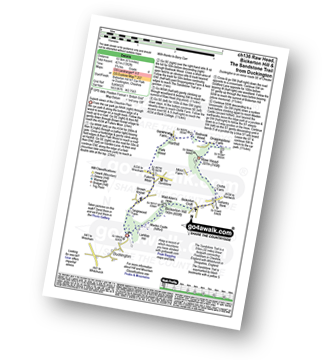 Walk route map with easy-to-follow route instructions for Cheshire walk ch136 Raw Head, Bickerton Hill and The Sandstone Trail from Duckington pdf