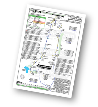 Walk route map with easy-to-follow route instructions for walk ch146 Kettleshulme and Shining Tor from Lamaload Reservoir pdf