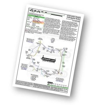 Walk route map with easy-to-follow route instructions for walk ch155 Jenkin Chapel and Windgather Rocks from Pym Chair pdf