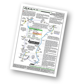 Walk route map with easy-to-follow route instructions for Cheshire walk ch175 The Macclesfield Canal, Bosley Locks and North Rode from Gawsworth pdf