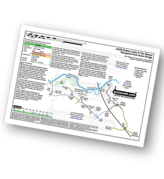 Walk route map with easy-to-follow route instructions for Cheshire walk ch250 Weaver Navigation from Acton Bridge pdf