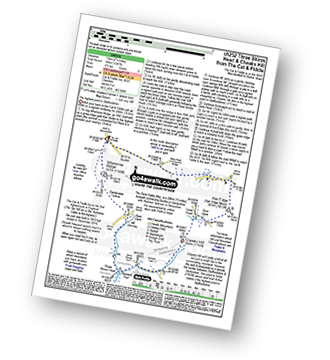 Walk route map with easy-to-follow route instructions for walk ch252 Three Shires Head and Cheeks Hill from The Cat and Fiddle pdf