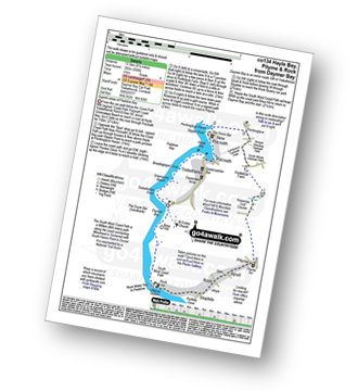 Walk route map with easy-to-follow route instructions for walk co134 Hayle Bay, Pityme and Rock from Daymer Bay pdf