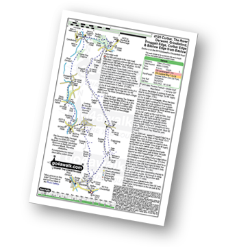 Walk route map with easy-to-follow route instructions for Derbyshire walk d120 Froggatt Edge from Baslow pdf