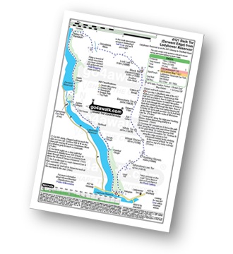 Walk route map with easy-to-follow route instructions for walk d121 Back Tor from Ashopton Bridge, Ladybower Reservoir pdf
