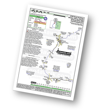 Walk route map with easy-to-follow route instructions for Derbyshire walk d126 Great Hucklow, Bretton, Abney Clough and Burton Bole End from Bradwell pdf